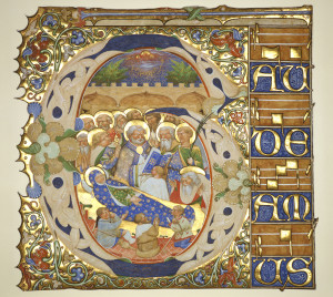 Historiated Initial from a Gradual Italy, Venice, c. 1420 (The Medieval Imagination)